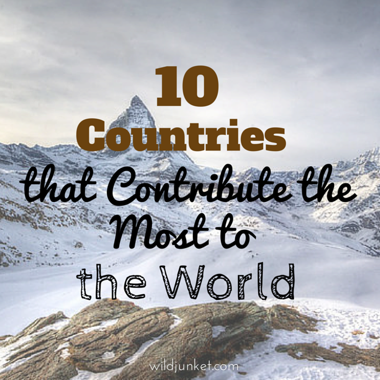 countries that contribute most to the world