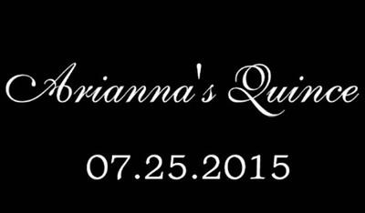 Ariannas Quince 07-25-2015