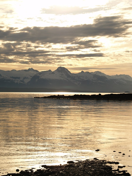 Sunset over the Chilkat Mountains