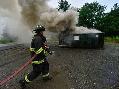 Dumpster fire on Route 9 - 082119