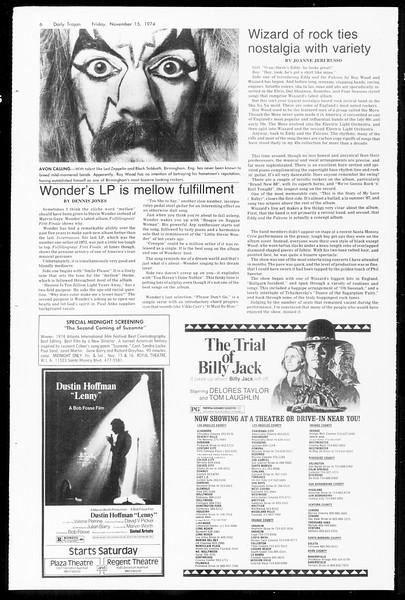 Daily Trojan, Vol. 67, No. 42, November 15, 1974