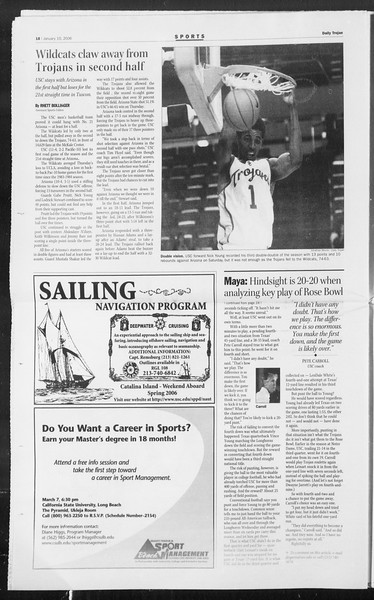 Daily Trojan, Vol. 157, No. 1, January 10, 2006
