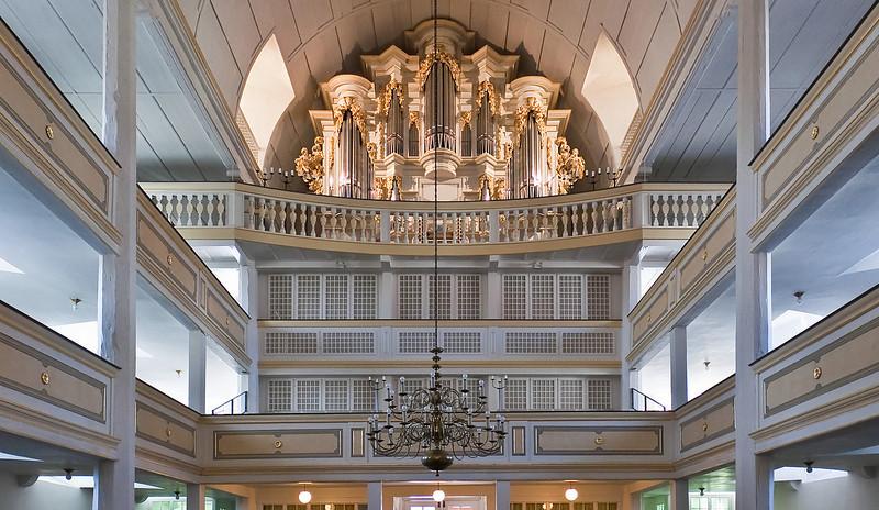 Arnstadt Bachkirche, Blick auf Orgel (1703)