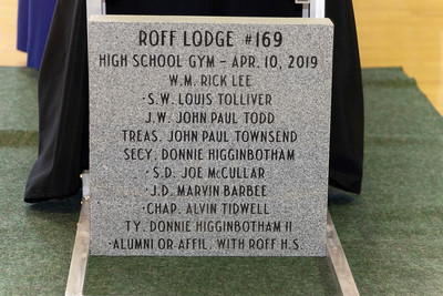 Roff Lodge #169 - Roff High School Gym Cornerstone Ceremony - 4/10/2019