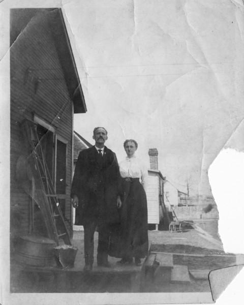 Isaac S. Lees (Ike) and  Elizabeth Lees (Jennie)  Elizabeth Jane Foust (Jennie) was married to George W. Dodrill, divorced early 1900s.  Married Ike in 1904