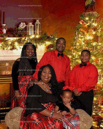 Regina Brown 2020 family Christmas photos