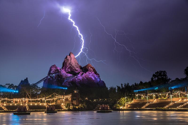 Lightning storm over Animal Kingdom.