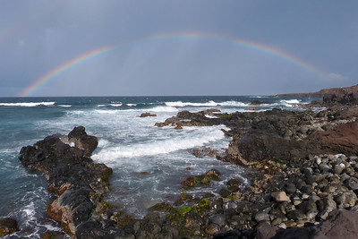 Complete Rainbow East of Ho'okipa December 2013, Cynthia Meyer, Maui, Hawaii