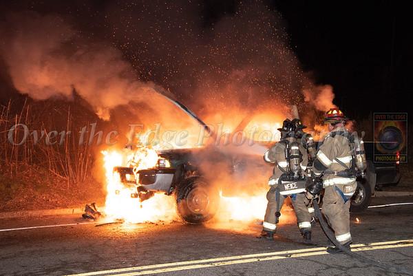 Glen Cove Car Fire 01/10/2020