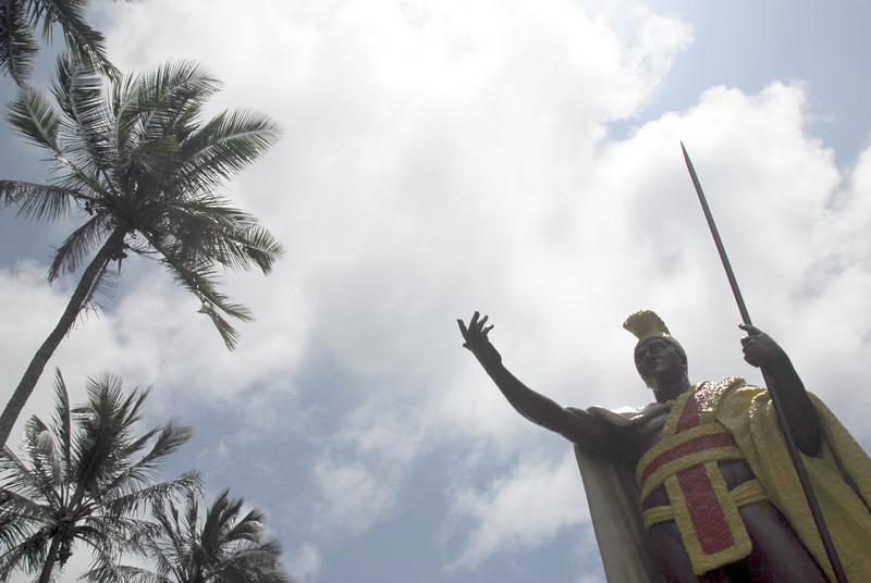 King Kamehameha Statue in Kohala, Pololu Valley, Hawaii