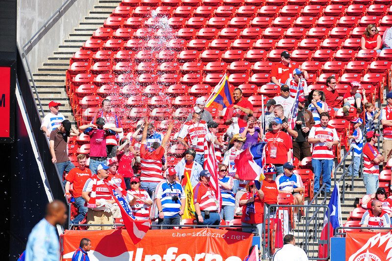 29, March 2009:  FC Dallas Fansin action during the soccer game between FC Dallas & Chivas USA at the Pizza Hut Stadium in Frisco,TX. Chivas USA  beat FC Dallas 2-0.Manny Flores/Icon SMI