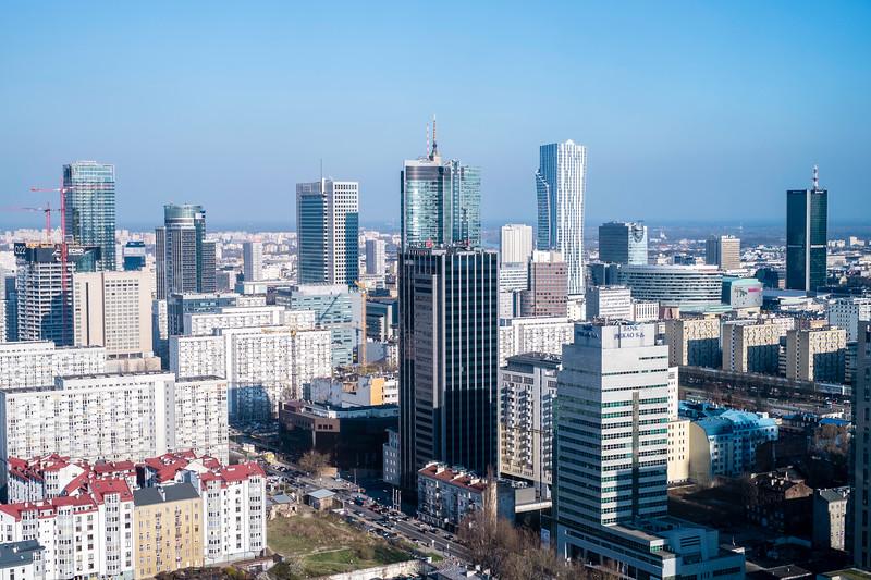 Contemporary, panorama, Warsaw, Poland