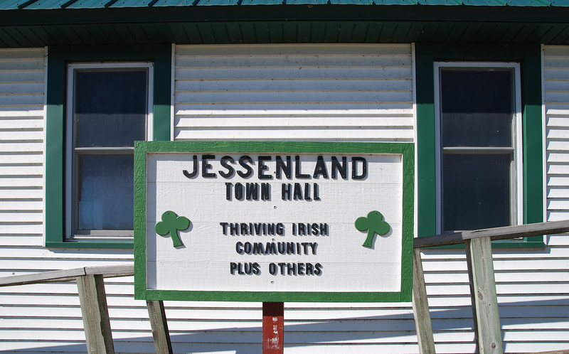 Jessenland Town Hall sign