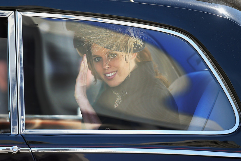 . Princess Beatrice leaves a service of celebration to mark the 60th anniversary of the Coronation Queen Elizabeth II at Westminster Abbey on June 4, 2013 in London, England. The Queen\'s Coronation took place on June 2, 1953 after a period of mourning for her father King George VI, following her ascension to the throne on February 6, 1952. The event 60 years ago was the first time a coronation was televised for the public.  (Photo by Dan Kitwood/Getty Images)