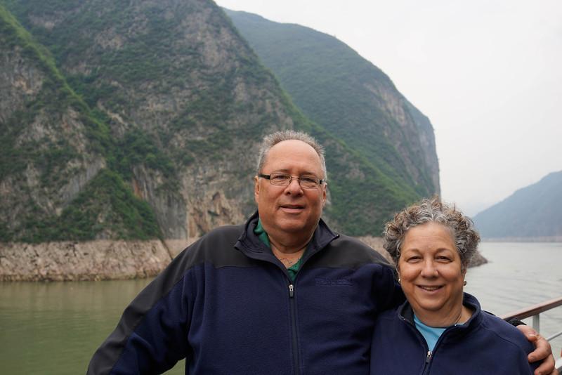 Ellis and Renee Mirsky on Yangtze River