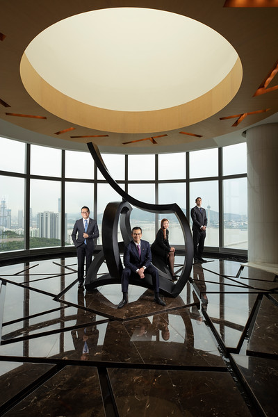 Executives at the Altira hotel casino in Taipa, Macau.