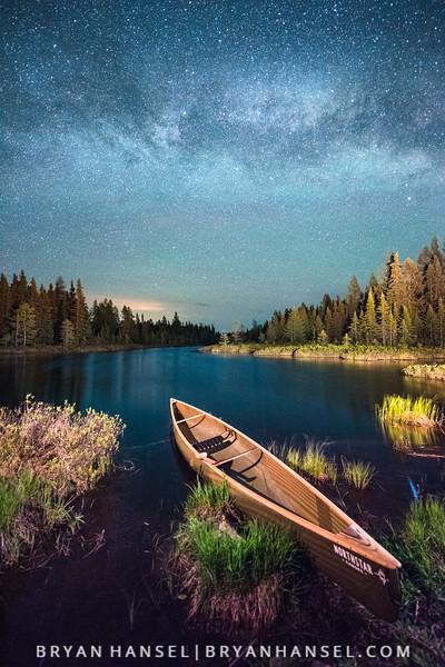 Canoe Under the Milky Way