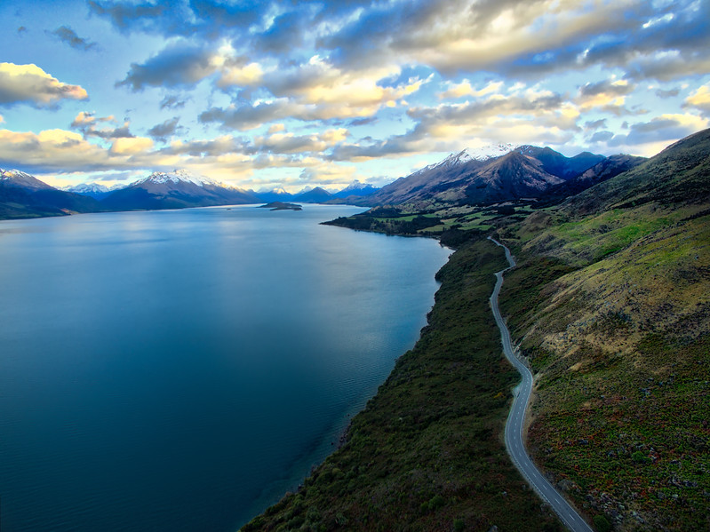 Driving Off Towards Glenorchy