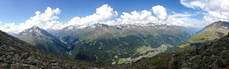 Ötztal with Sölden (iPhone 5 with panorama function)