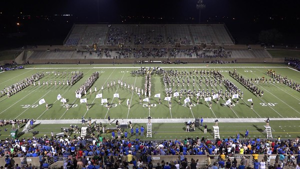 Game 3 (vs. Hebron) West Cluster Band Night 9/9/2016