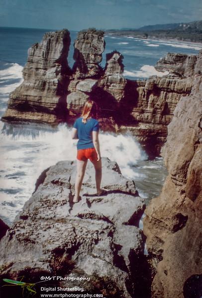 198401 Gill at Punekaiki, NZ West Coast