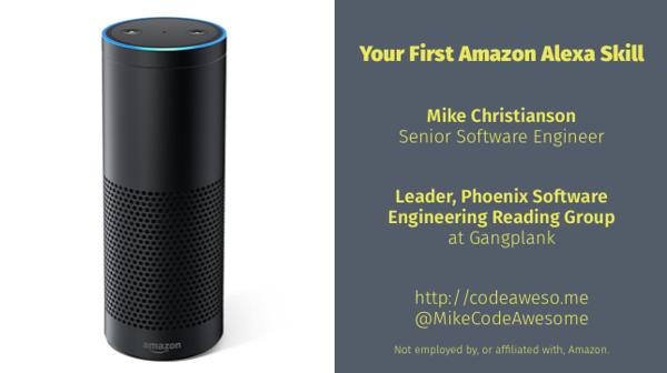 Your First Amazon Alexa Skill