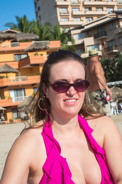 Crystal, on the beach