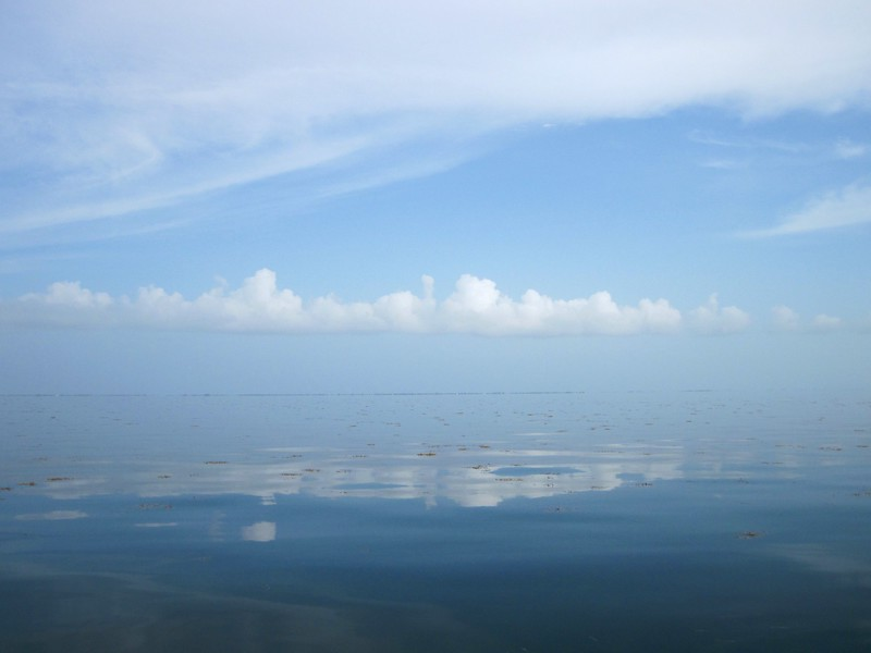 glassy flat florida bay
