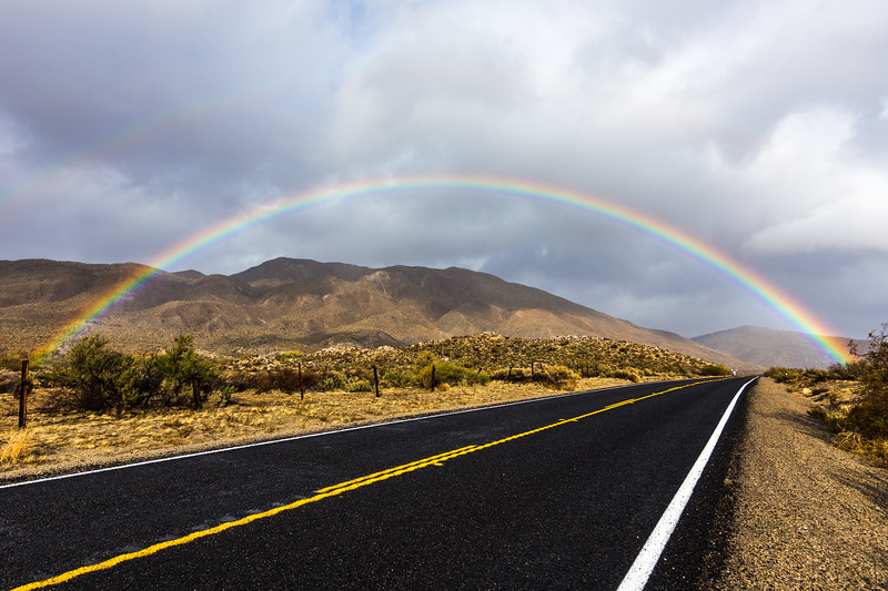 Another Perspective of the Awesome Rainbow Over Highway 78