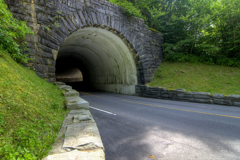 A short tunnel along the main highway at the Great Smoky Mountains National Park in Gatlinburg, TN on Sunday, August 4, 2013. Copyright 2013 Jason Barnette