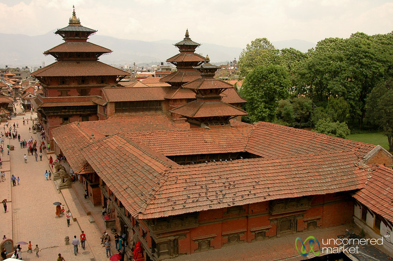 Looking Down on Durbar Square - Patan, Nepal