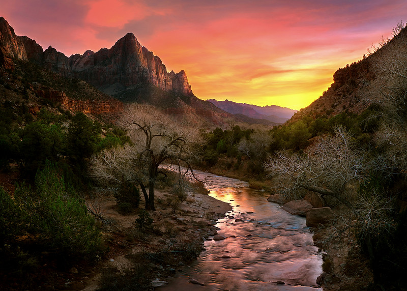 Zion National Park - Virgin River Sunset.jpg