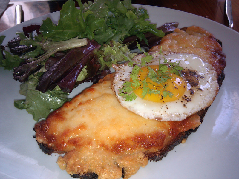 Chouquet's - Croque Madame with a Green Salad