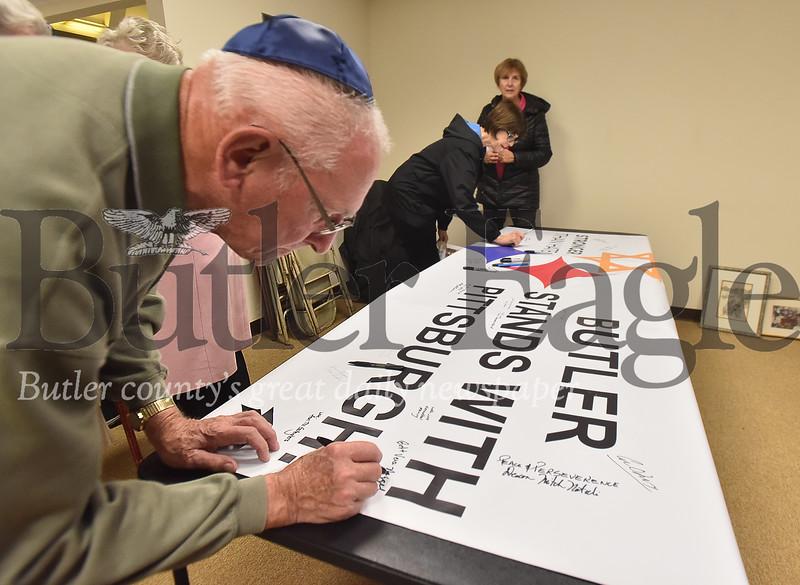 87482 Butler Interfaith Gathering & Vigil at B'nai Abraham Congregation For the  11 victims of the Tree of Life Synagogue shooting Last Saturday