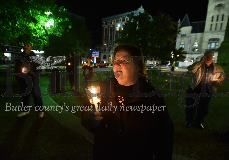 Overdose awareness candlight walk, orgainzed by Hope for Broken Hearts support group.