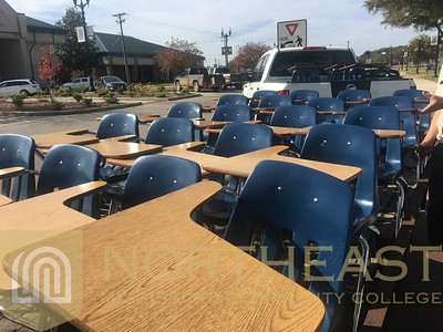 2018-11-16 CAMPUS Desk Give Away to Area Schools