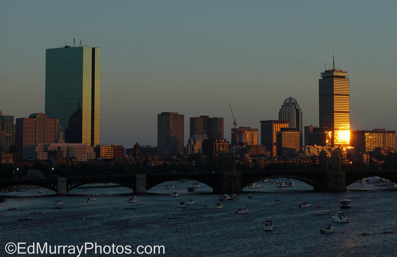 Boston at Dusk: I'm back from my mini-vacation and it looks like I have some catching up to do! Happy Monday!  7/8/2013