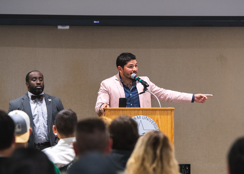"""Keynote Speaker Mark Gonzalez, the Nueces County District Attorney, spoke about his job duties and high-profile cases during """"Q&A with the DA."""""""