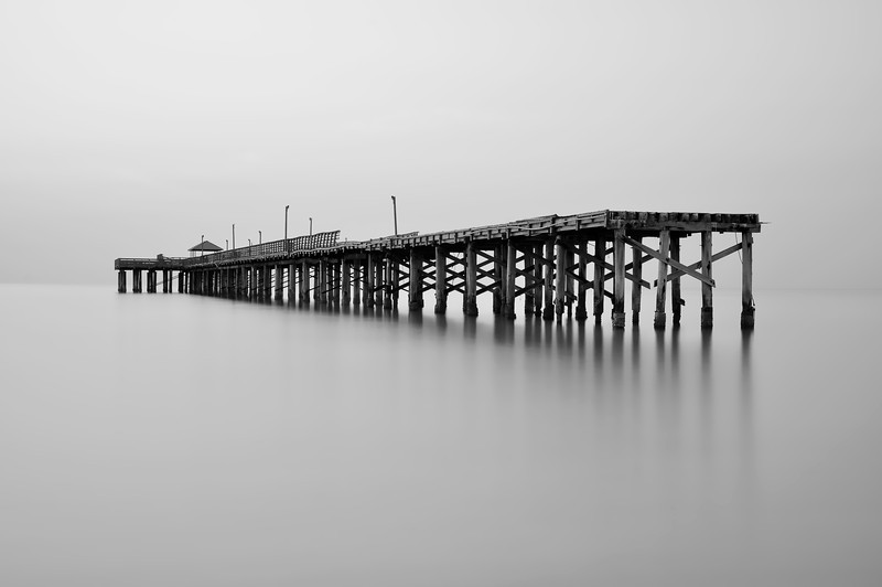 The Abandoned Pier of Sunny Isle Beach, Florida.