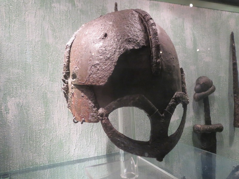 The one and only Viking helmet ever found. without flash