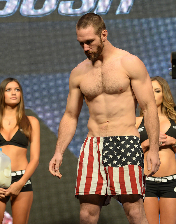 . Bubba Bush during weigh ins for UFC 175 at the Mandalay Bay Events Center July 4, 2014. (Photo by Hans Gutknecht/Los Angeles Daily News)