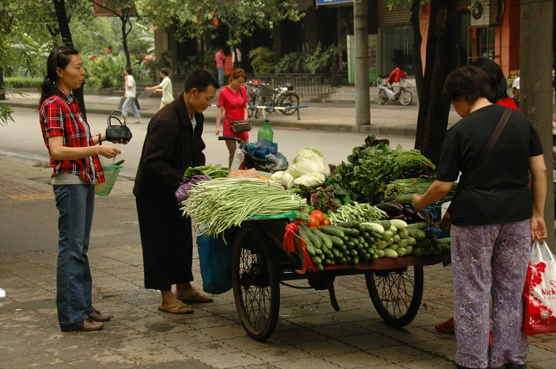 Vegetable Cart - Chengdu, China