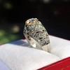0.94ctw Vintage Old European Cut Diamond Dome Ring, Center OEC (GIA .59ct G SI2) 31