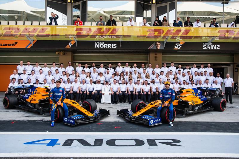 McLaren F1 Team End-of-season photoshoot