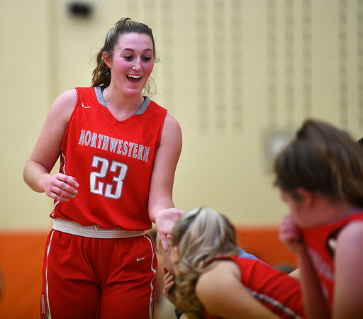 12/26/2019 Mike Orazzi | StaffrNorthwestern's Jana Sanden (23) during Thursday's girls basketball game in Terryville. r