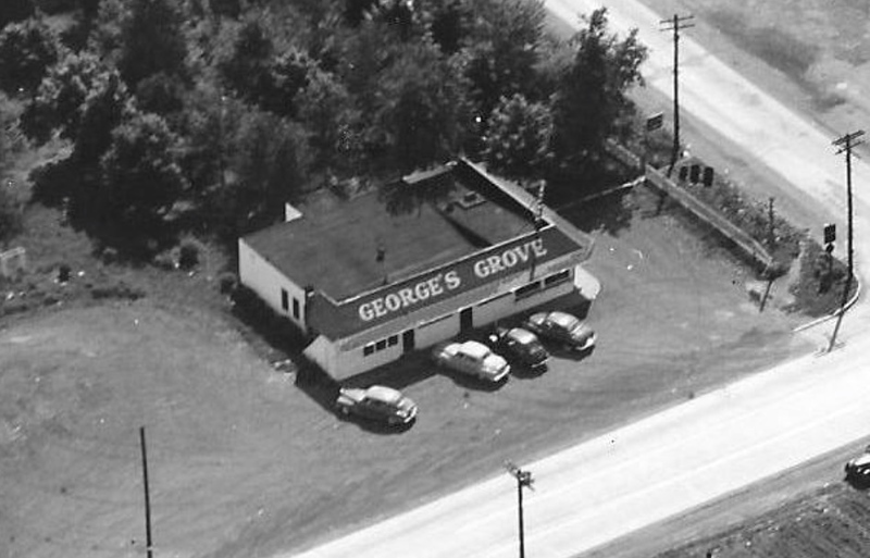 George's Grove- Technically within the 672 foot stretch of the South side of Route 22 that is Kenilworth at the South-east corner of Michigan Ave and Route 22. Photo taken in 1949.