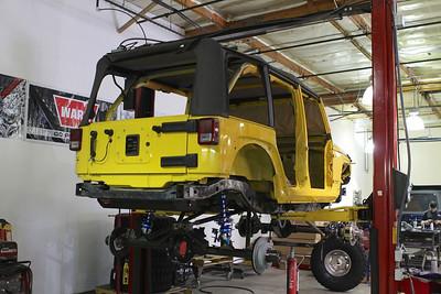 Yellow GR JK Build Photos 08/05/2013