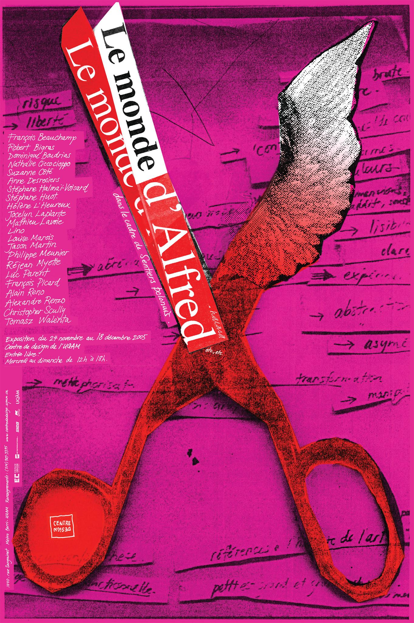 2005 - Exposition - Le monde d'Alfred dans le cadre de Sentiers polonais ©Alfred Halasa