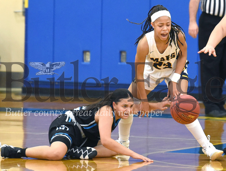 Mars vs Woodland Hills in a WPIAL Class 5-A Girls Basketball First Round playoff game at Hampton High Schoo