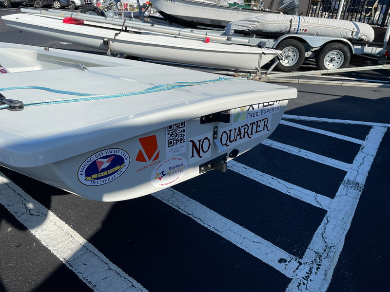 Stickered up and ready to sail.